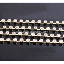 Diamond D Cup Chain Plated Gold