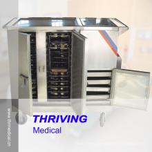 Big Capacity! ! ! Stainless Steel Hospital Heating Food Trolley