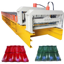 metal glazed tile roofing sheets cold roll forming machine