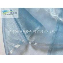 Blue Bright Polyester Organza For Wedding Dress