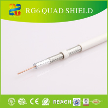 Quad Shield Rg-6 Coaxial Cable for CATV/CCTV Equipments