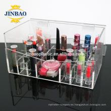 Precio de acrílico del organizador del maquillaje del claro de la fábrica al por mayor de 3m m de Jinbao