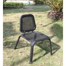 Cadeira de malha do Rattan ao ar livre do PE de aço