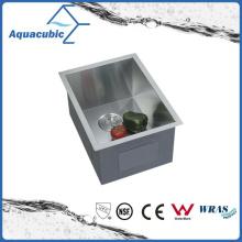 Lavatório de cozinha de aço inoxidável feito à mão Undermount (ACS1520A1)