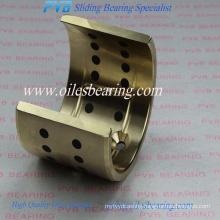 C86300 copper alloy bronze bushing, Half-shells graphite plugged bearing, PTFE inside brass bush