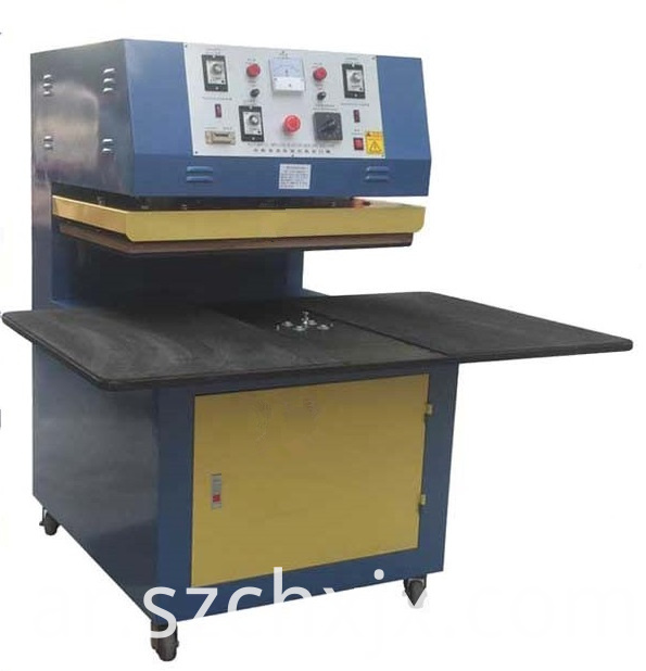 Double stations plastic blister sealing machine