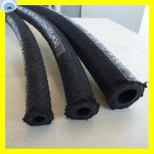 Manguera de caucho de aceite de alta presión con la cubierta de la trenza de la fibra