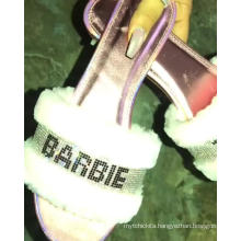 Wholesale Ladies Diamonds Slip Fluffy Slippers Crystal Rhinestone Fur Slippers