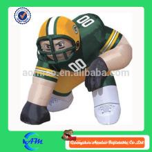 Nfl personalizado de alta qualidade inflável jogador gramado figura