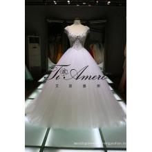 Cap Sleeves Sexy Corset Wedding Dress Beaded Indian Wedding Dress