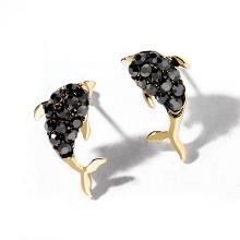 DARA simple fashion trending fish Shaped Women Earrings