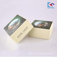 Fournisseur d'usine personnalisé boîte de papier cadeau recyclé en carton pour le lavage du savon