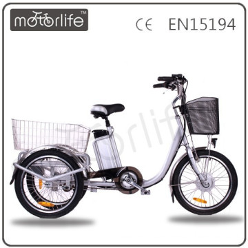 MOTORLIFE/OEM brand EN15194 36v 250w electric tricycle, three wheel tricycle for adult