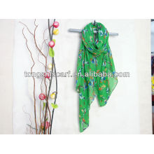 2013 new design polyester voile printed promotion scarf