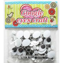 Muñeca semillas googly ojos para juguetes de plástico