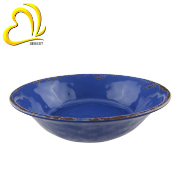 "Superior quality wholesale 7.5"" serving bowls melamine plastic round soup bowl"