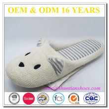 spring cashmere cute animal women slippers
