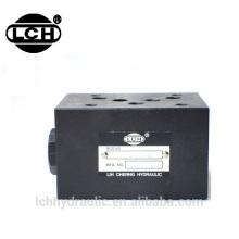 hydraulic modular relief valve mrv with control block unit of hydraulic pilot check modular valve