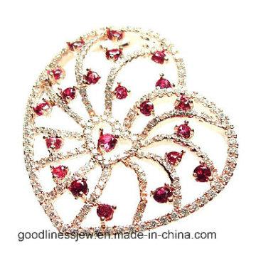 Diseño especial y encantos plata 925 encantos de corazón colgante (mp4819)