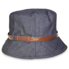 Senhoras Moda Design Denim Bucket Floppy Hat com Cinto