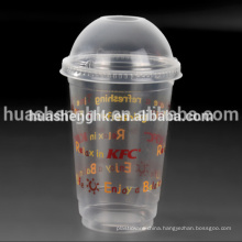 Custom Take Away 16oz Clear Printing Disposable Plastic Cup