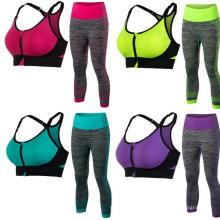Sujetador deportivo Activewear para mujer y traje de 3/4 leggings Ropa fitness