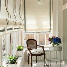 Decoração de casa cortina de país americano projeta cortinas romanas plissadas