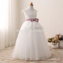 2016 fashion children flower girl dress for wedding latest white color lace children wedding dress