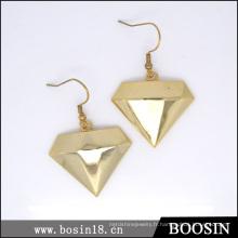 Boucle d'oreille de luxe diamant étoile d'or # 21593