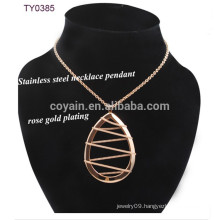 Chain Winding Water Drop Pendant New Model Necklace Chain Metal