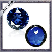 Bom corte Round Sapphire Stone 34 # Sapphire Cor