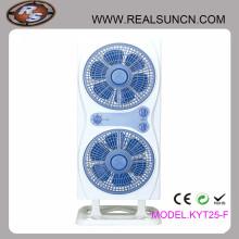 Ventiladores de la caja de los gemelos con el ventilador de dos cajas que trabajan pero un soporte