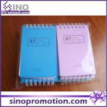Art und Weise preiswertes Mini-Taschen-kundenspezifisches gedrucktes gewundenes Notizbuch
