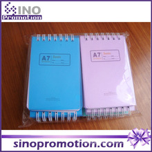 Cheap Chinese Hardcover Mini Spiral Notebook with Colored Paper