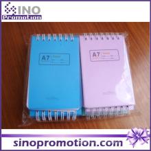 Chinês barato Hardcover Mini Spiral Notebook com papel colorido