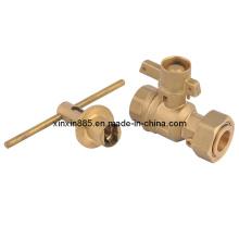 Brass Lockable Ball Valve for Water Meter