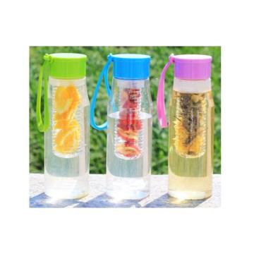 600ML Tritan Fruit Infuser bouteille d'eau, bouteille d'eau PCTG sans BPA, bouteille d'infusion de fruits