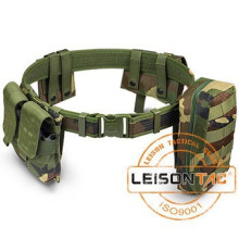 Military Belt with Pouches lined with 1000D waterproof nylon composited material