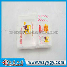 New plastic portable pill case for travel, hot Promotional pill box