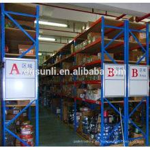 Personalizado de alta calidad doble estante del almacén almacenamiento profundo del metal pesado