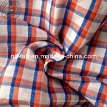 100% hilo de lino teñido de tela (QF13-0757)