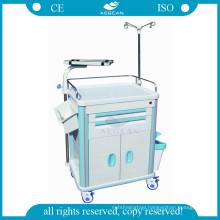 AG-ET014B1 multifunction ABS nurse mobile plastic utility cart