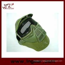 Анфас страйкбол изумленный взгляд сетки маска шеи защиты маски