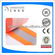 Ruban adhésif réfléchissant à l'orange fluorescent de haute qualité