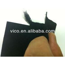 Tecidos ou feltros filtrantes não tecidos de carbono ativado