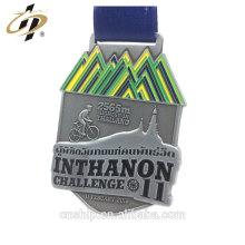 Hot design custom 3D antique metal cycling medals with enamel