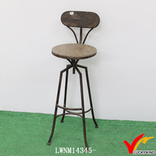 Back Design High Leg Industrial Unique Vintage Kitchen Counter Bar Stools