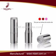 ¡Caliente! Fábrica de venta de contenedores de lápiz labial de plástico con la parte superior clara