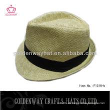 Jungen Fedora Hüte Mode Stroh Fedora Hut