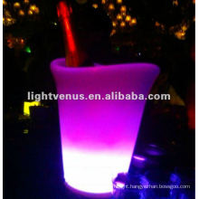 RGB color change LED Champagne ice bucket